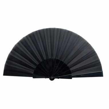 Handwaaier zwart 23 cm