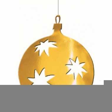 Hangdecoratie kerstbal goud 30 cm