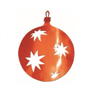 Hangdecoratie kerstbal rood 30 cm