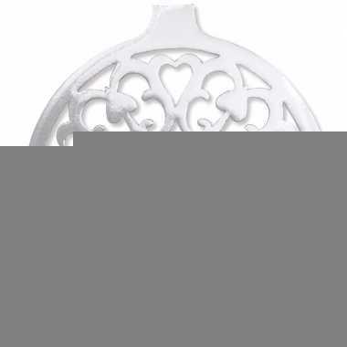 Hangdecoratie kerstbal zilver 32 cm