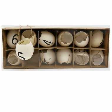 Hangdecoratie kippen eieren pasen 12 stuks