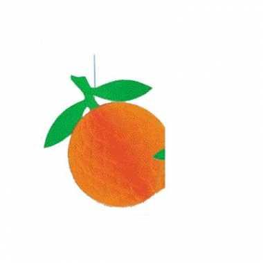 Hangdecoratie oranje sinaasappel