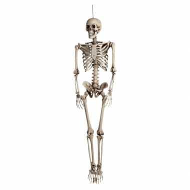 Hangdecoratie skelet 160 cm
