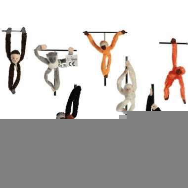 Hangend zwart aapje met magneet 23 cm
