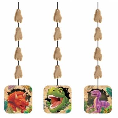 Hangende dinosaurus decoratie 3 stuks
