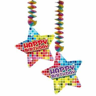 Hangversiering happy birthday 2 stuks