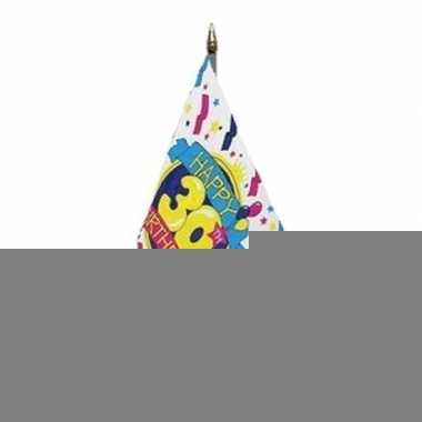 Happy 30th birthday vlaggetje met stokje