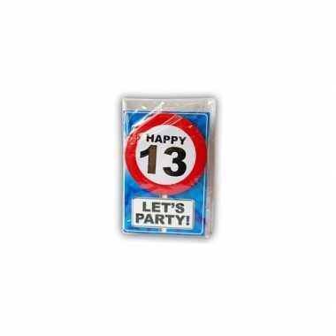 Happy birthday leeftijd kaart 13 jaar