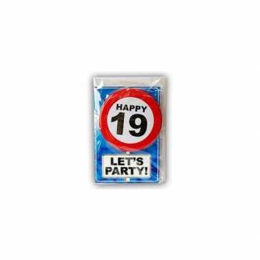 Happy birthday leeftijd kaart 19 jaar