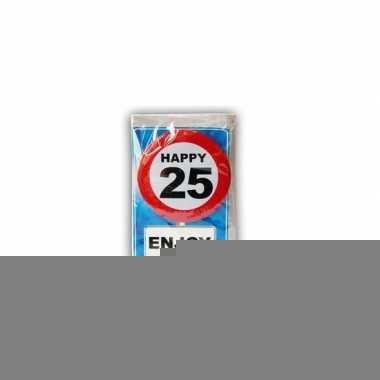 Happy birthday leeftijd kaart 25 jaar