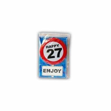Happy birthday leeftijd kaart 27 jaar