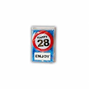 Happy birthday leeftijd kaart 28 jaar