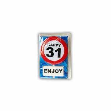 Happy birthday leeftijd kaart 31 jaar