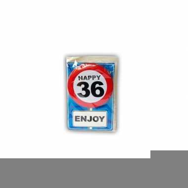 Happy birthday leeftijd kaart 36 jaar