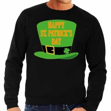 Happy st. patricksday sweater zwart heren