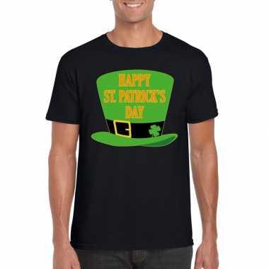 Happy st. patricksday t-shirt zwart heren