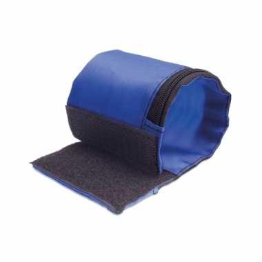 Hardloop opberg armband blauw