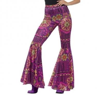 Hippie broek paars/roze voor dames