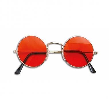 Hippie flower power bril oranje