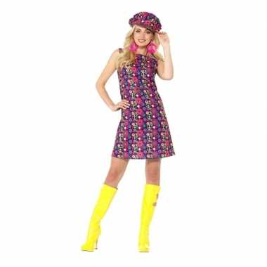 Hippie peace sixties kostuum voor dames