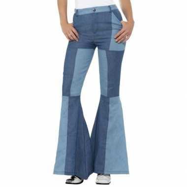 Hippie sixties verkleed broek patchwork voor dames