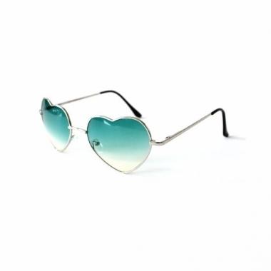 efc90bea6b1b52 Hippie zonnebril hartvorm groen