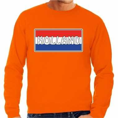 Holland landen sweater oranje heren
