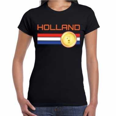 Holland landen t-shirt zwart dames