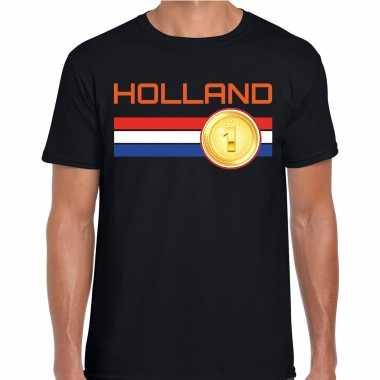 Holland landen t-shirt zwart heren