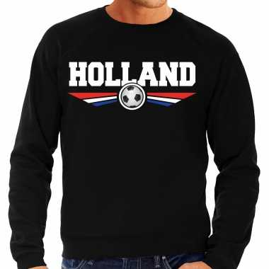 Holland landen / voetbal sweater zwart heren