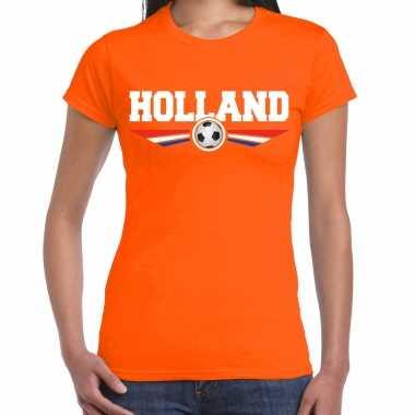 Holland landen / voetbal t-shirt oranje dames