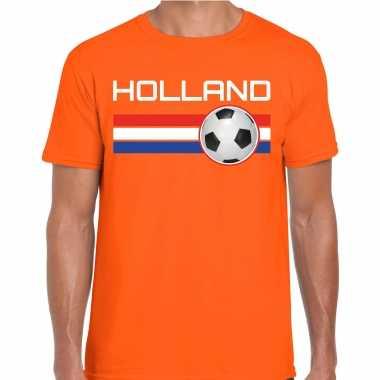 Holland voetbal / landen t-shirt oranje heren