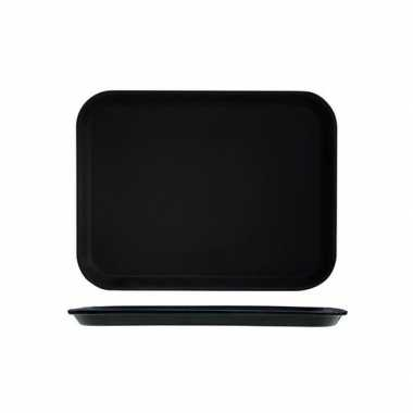 Horeca dienblad zwart met anti slip 27 x 35 cm
