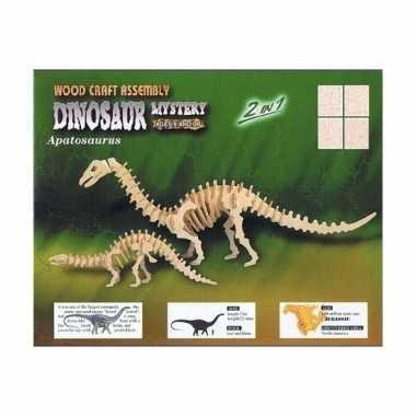 Houten dinosauriers bouwpakket