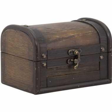 Houten doosje/kistje 11 cm met sluiting