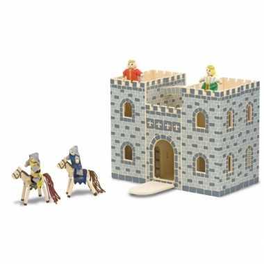 Houten kinder kasteel met accessoires trend
