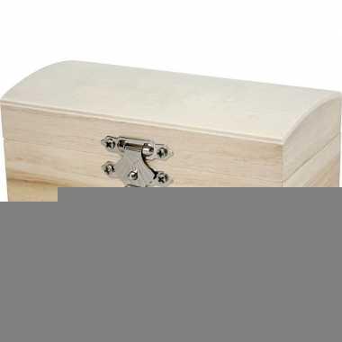 Houten sieradendoos onbedrukt 11 cm