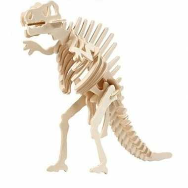 Houten spinosaurus dinosaurier