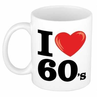 I love 60's beker/ mok 300 ml