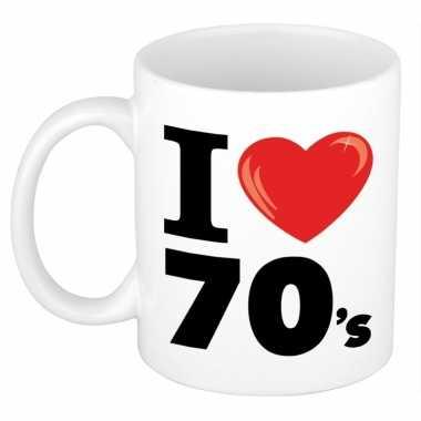 I love 70's beker/ mok 300 ml