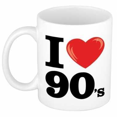 I love 90's beker/ mok 300 ml