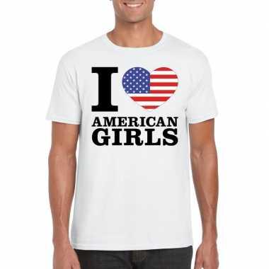 I love american girls t-shirt wit heren