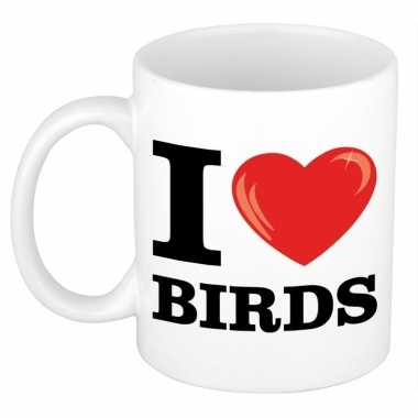 I love birds/ vogel beker 300 ml