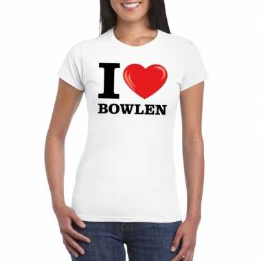 I love bowlen t-shirt wit dames