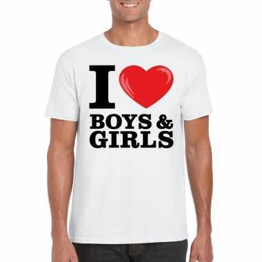I love boys & girls t-shirt wit heren