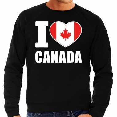 I love canada sweater / trui zwart voor heren