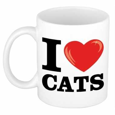 I love cats/ katten beker 300 ml