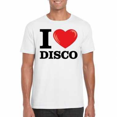 I love disco t-shirt wit heren