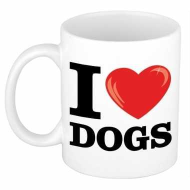 I love dogs/ honden beker 300 ml