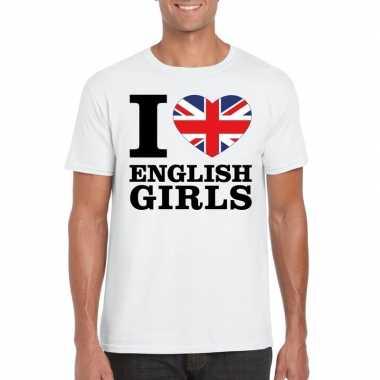 I love english girls t-shirt wit heren